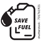 jerrycan save fuel icon... | Shutterstock .eps vector #731761921