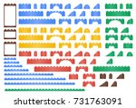 vector large set of isometric... | Shutterstock .eps vector #731763091