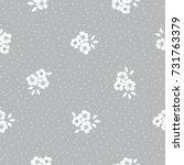 seamless pattern of  flower.... | Shutterstock .eps vector #731763379