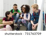 the great portrait of school... | Shutterstock . vector #731763709