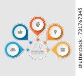 vector infographic template for ... | Shutterstock .eps vector #731767345