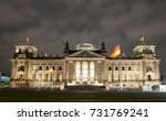 the reichstag building ... | Shutterstock . vector #731769241
