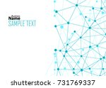 blue abstract template for card ... | Shutterstock .eps vector #731769337