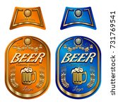 beer label template with neck... | Shutterstock .eps vector #731769541