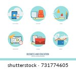 business  finance and education ... | Shutterstock .eps vector #731774605