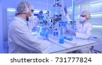 group of researchers team... | Shutterstock . vector #731777824