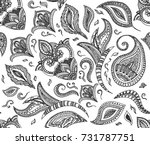 seamless floral retro... | Shutterstock . vector #731787751