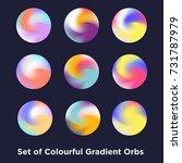 liquid color covers set. fluid... | Shutterstock .eps vector #731787979