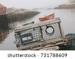 Lobster Trap On A Misty Day