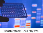 dna testing in the laboratory.... | Shutterstock . vector #731789491