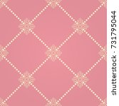 elegant knot sign. pink and... | Shutterstock .eps vector #731795044
