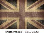 vintage great britain flag | Shutterstock . vector #73179823