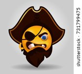 pirate emoji isolated vector