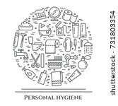 personal hygiene banner with... | Shutterstock .eps vector #731803354