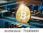 gold coin of crypto currency... | Shutterstock . vector #731806834