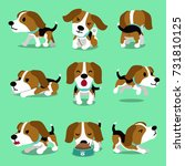 cartoon character beagle dog... | Shutterstock .eps vector #731810125
