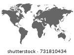 world map. | Shutterstock .eps vector #731810434
