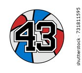 basketball symbol with number... | Shutterstock .eps vector #731811595