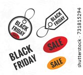 black friday sale tags and... | Shutterstock .eps vector #731815294