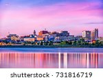 Small photo of Portland, Maine, USA downtown skyline from Back Cove.