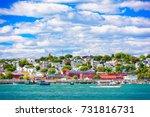 Portland, Maine, USA coastal townscape.
