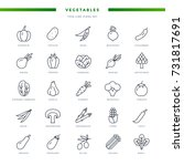 vegetables thin line icons set | Shutterstock .eps vector #731817691