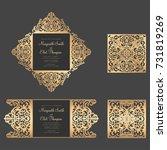 laser cut bellyband template.... | Shutterstock .eps vector #731819269