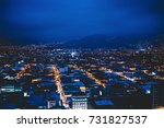 panoramic view of the city of... | Shutterstock . vector #731827537
