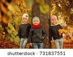 Portrait Three Happy Friends Kids - Fine Art prints
