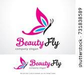 beauty fly logo template design ... | Shutterstock .eps vector #731838589