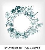engraving flower background...