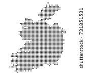 ireland map | Shutterstock .eps vector #731851531