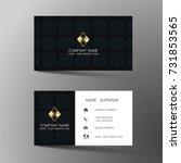 modern business card template... | Shutterstock .eps vector #731853565