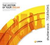 design element for corporate... | Shutterstock .eps vector #731856541