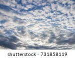 Small photo of Altocumulus cloud on the blue.Cloud background
