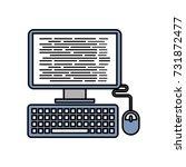 computer programm coding web... | Shutterstock .eps vector #731872477