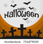 halloween background and... | Shutterstock .eps vector #731879035