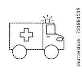 ambulance vehicle transport... | Shutterstock .eps vector #731881519