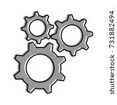 gears machine isolated icon | Shutterstock .eps vector #731882494