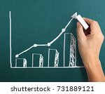drawing results graph with... | Shutterstock . vector #731889121