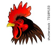 Vector Mascot Of Rooster Head