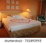 honeymoon suite in a modern... | Shutterstock . vector #731892955