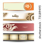 vector abstract banners for web ... | Shutterstock .eps vector #73189495