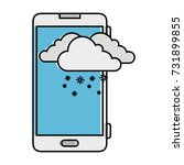 smartphone with snow cloud...