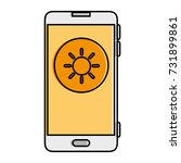 smartphone with sun weather...