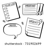 sticky note  reminder  to do... | Shutterstock .eps vector #731902699