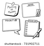 sticky note  reminder  to do... | Shutterstock .eps vector #731902711