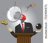 hate speech man. cartoon... | Shutterstock .eps vector #731904571