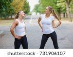 beautiful  sexy sports girls... | Shutterstock . vector #731906107
