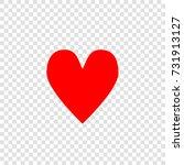 heart icon. love symbol. vector.... | Shutterstock .eps vector #731913127